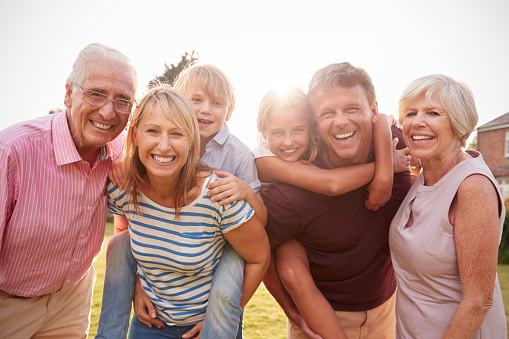 a smiling family of patients from Platte Valley Dental Care